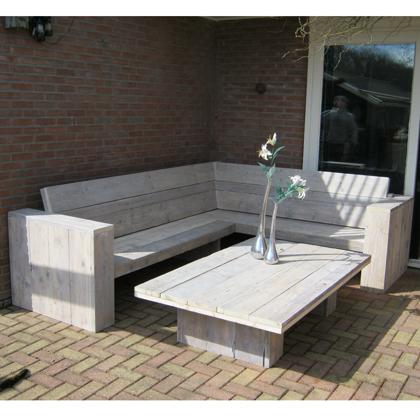 Steigerhout loungebank 39 lubeck 39 rustikal meubelen for Loungebank steigerhout