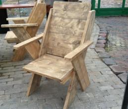 Steigerhout stoel 'Emden'