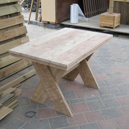 Steigerhouten tafel 39 emden 39 steigerhouten meubelen for Bouwtekening tafel