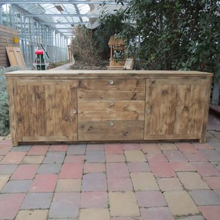 Steigerhout dressoir 'Saal'