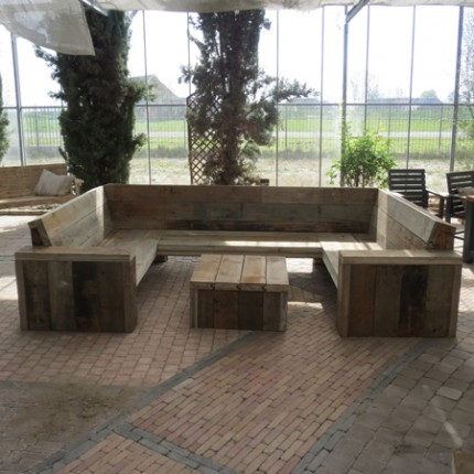 Damwandhout loungebank Texel