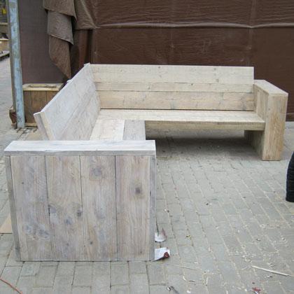 Loungesets en banken steigerhouten meubelen rustikal for Steigerhout tuinset