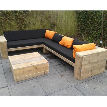 Loungebank van steigerhout - Rustikal Meubelen