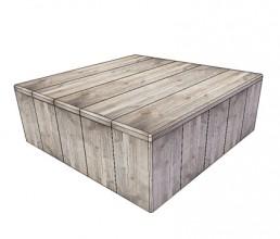 Steigerhout salontafel 'Nebel'