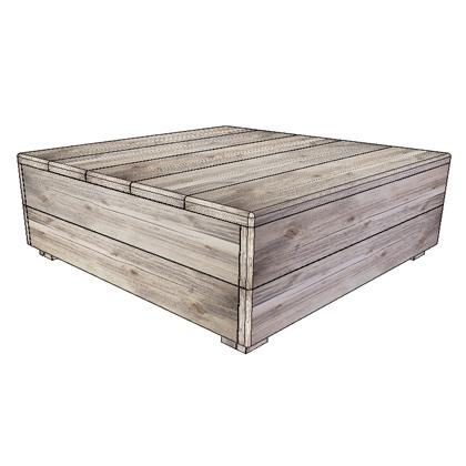 Steigerhout salontafel rustikal meubelen groningen for Steigerhout salontafel