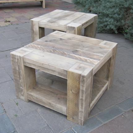 Steigerhouten salontafel steigerhouten meubelen - Salontafel ...