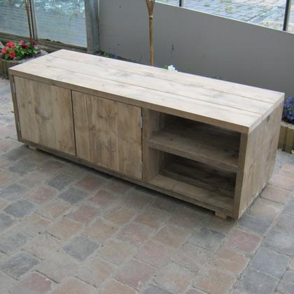 Steigerhouten tv meubel 39 selk 39 steigerhouten meubelen for Steigerhout tv meubel maken
