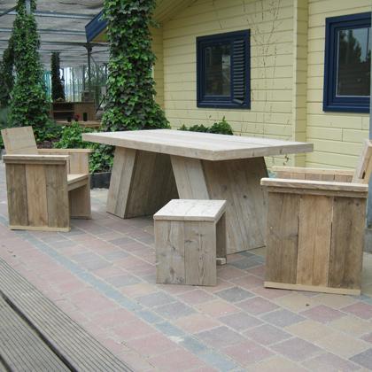Steigerhout tafel 'Hooge'