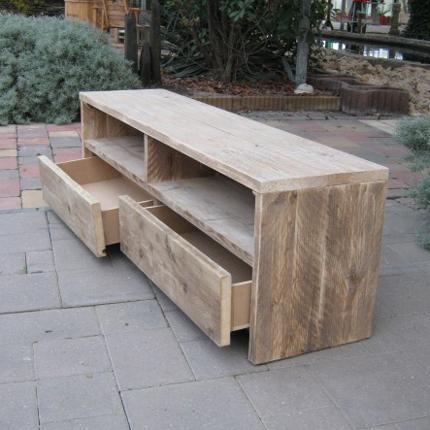 Steigerhouten tv meubel 39 wik 39 steigerhouten meubelen for Steigerhout tv meubel