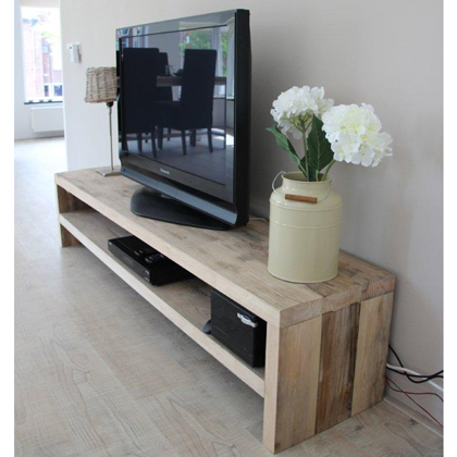 damwandhout tv meubel 39 marlow 39 steigerhouten meubelen rustikal. Black Bedroom Furniture Sets. Home Design Ideas