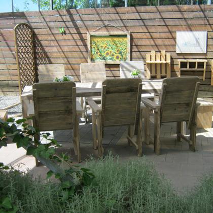 Steigerhout tuinset 'Bergen'