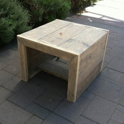 Steigerhout salontafel 39 minsen 39 steigerhouten meubelen for Steigerhout salontafel