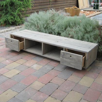 Steigerhouten TV-meubel Selent