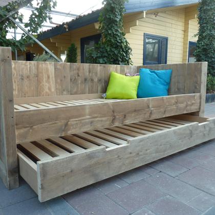 Steigerhout bedbank 'Lohme'