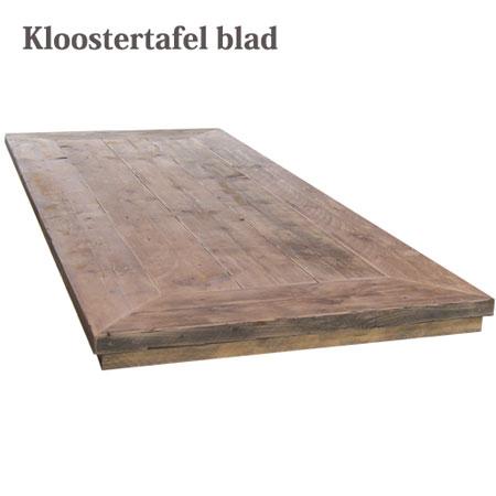 Dik houten tafelblad