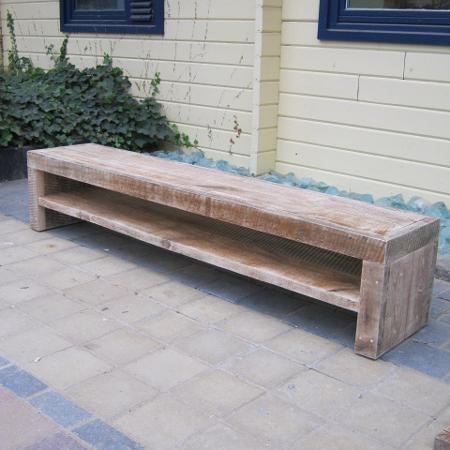Oud grenen tv meubel for Steigerhout tv meubel maken