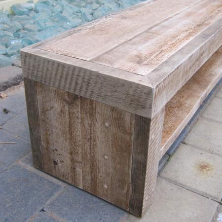 Oud grenen tv meubel - Planken maken in een kast ...