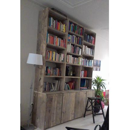 Steigerhout kast 39 holm 39 steigerhouten meubelen for Boekenkast steigerhout