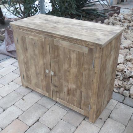 Wandmeubel 'Bonn' gebruikt steigerhout