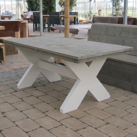 Steigerhout tafel 39 leipzig 39 steigerhouten meubelen for Stijgerhout tafel
