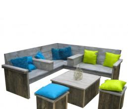 Damwandhout loungeset 'Vlieland'