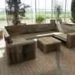 Damwandhout loungebank 'Texel'