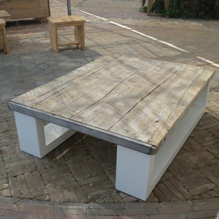Salontafel 39 mick 39 steigerhouten meubelen rustikal for Tafel van steenschotten