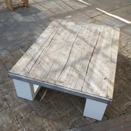Salontafel 39 mick 39 steigerhouten meubelen rustikal meubelen for Tafel van steenschotten