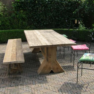 kloostertafel oud hout
