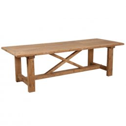 Oud grenen kloostertafel 'Cardiff'