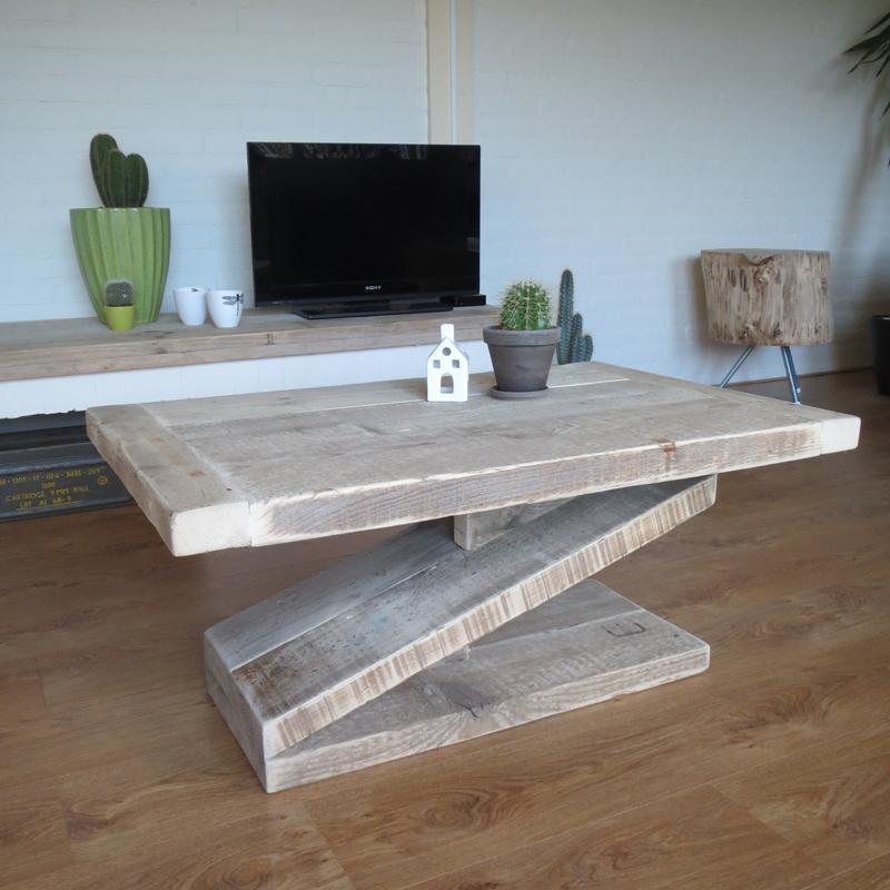 Steigerhout salontafel zorro5 steigerhouten meubelen for Steigerhout salontafel