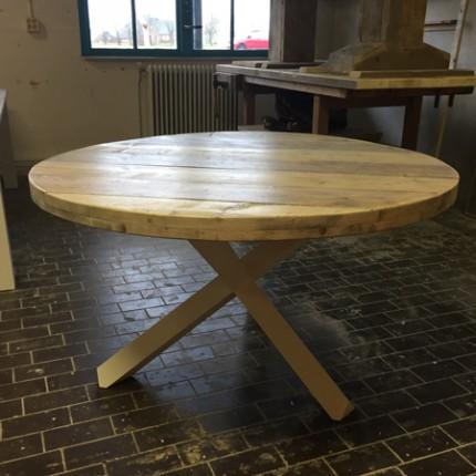 Ronde steigerhout eettafel