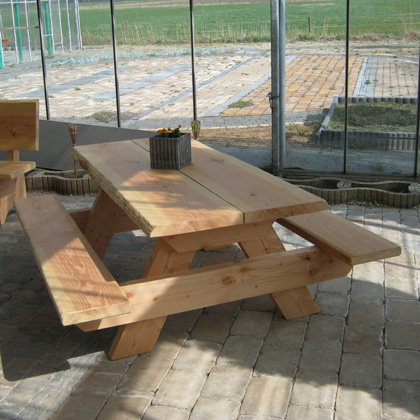 Douglashout Picknicktafel 'Kloosterburen'