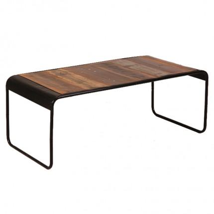 Hout en staal salontafel 'Torino'