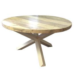 Ronde steigerhout tafel